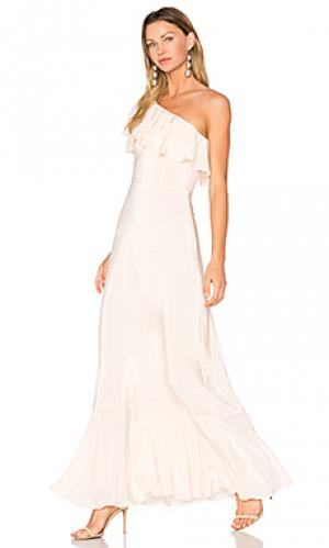 Макси платье sedona Amanda Uprichard. Цвет: розовый