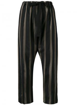 Укороченные брюки прямого кроя Hache. Цвет: чёрный