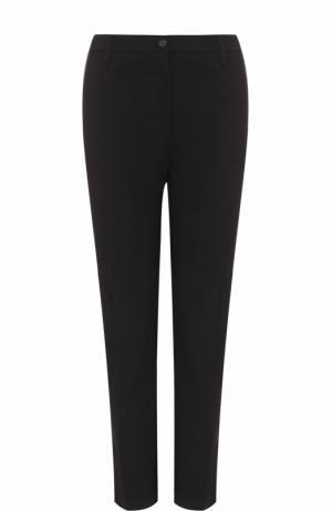 Хлопковые брюки со стрелками Kenzo. Цвет: черный