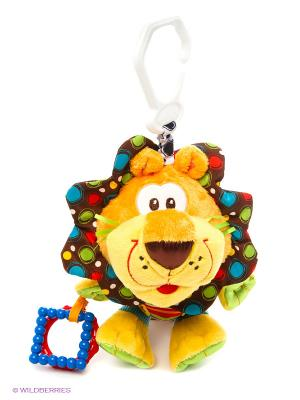 Мягкая игрушка-подвеска Лев Playgro. Цвет: желтый