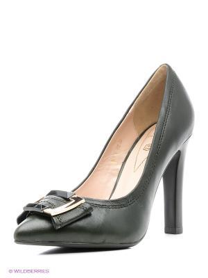 Туфли Moda Donna. Цвет: темно-зеленый