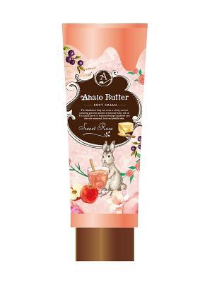 Тающий крем для тела с тропическими и цветочными маслами, ароматом розы свежих фруктов AHALO BUTTER. Цвет: розовый