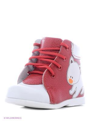 Ботинки Детский скороход. Цвет: белый, красный