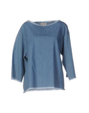 Джинсовая рубашка ZHELDA. Цвет: синий