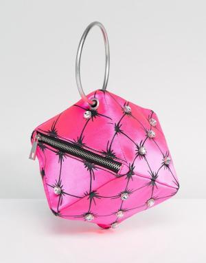 ASOS Сумка-клатч X Mary Benson. Цвет: розовый