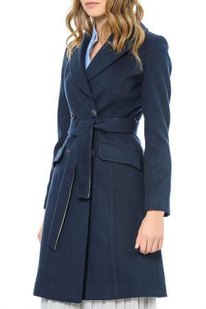 Пальто Dewberry. Цвет: синий