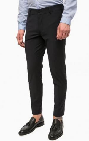 Темно-синие брюки на молнии DRYKORN. Цвет: синий
