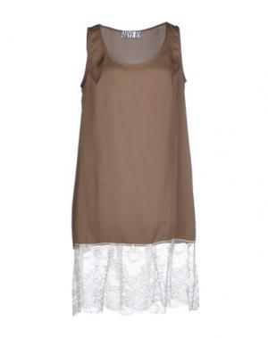 Короткое платье ANIYE BY. Цвет: хаки