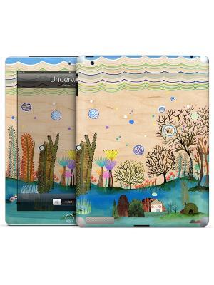 Наклейка для iPad 2,3,4 Underwater-Christina Song Gelaskins. Цвет: белый, серо-зеленый