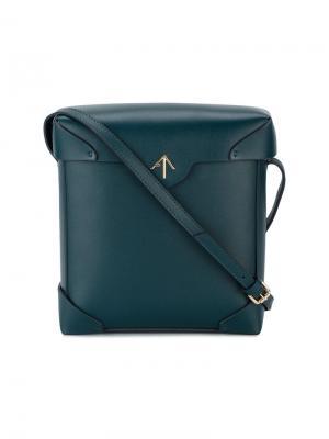 Синяя сумка через плечо Pristine Manu Atelier. Цвет: синий