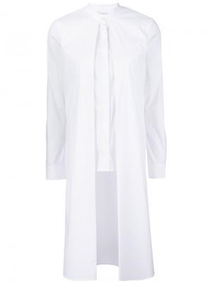 Удлиненная блузка Rosetta Getty. Цвет: белый