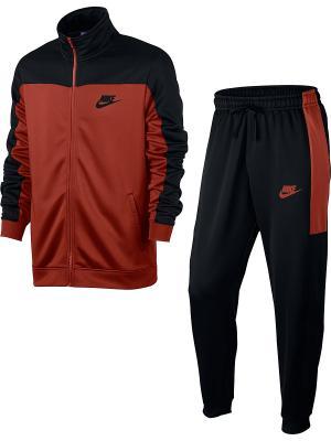 Костюм M NSW TRK SUIT PK Nike. Цвет: черный, красный