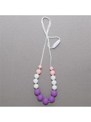 Бусы Краски лета. Цвет: фиолетовый, бледно-розовый, белый