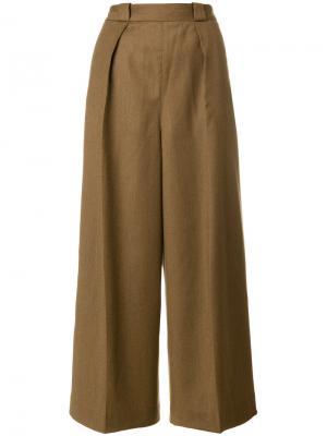 Укороченные брюки с завышенной талией Pence. Цвет: коричневый