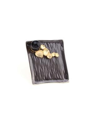 Кольцо Nina Ford. Цвет: серебристый, золотистый, черный