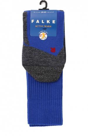 Утепленные носки Active Warm Falke. Цвет: синий