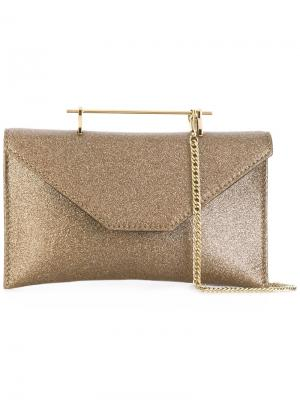 Блестящая сумка Annabelle M2malletier. Цвет: металлический