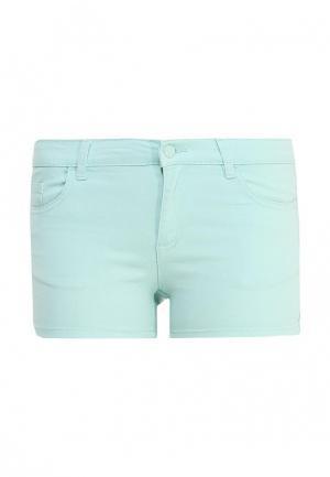 Шорты джинсовые Sela. Цвет: мятный