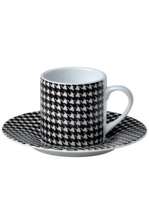 Набор кофейных пар 6 шт, 28см Bitossi. Цвет: белый