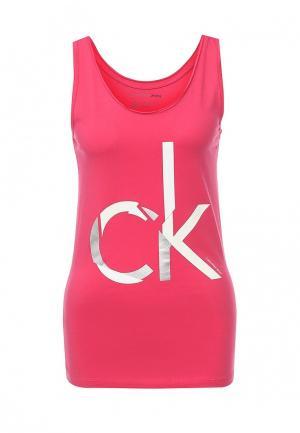 Майка Calvin Klein Jeans. Цвет: розовый