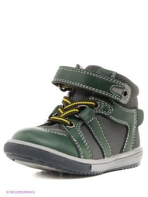 Ботинки PlayToday. Цвет: зеленый