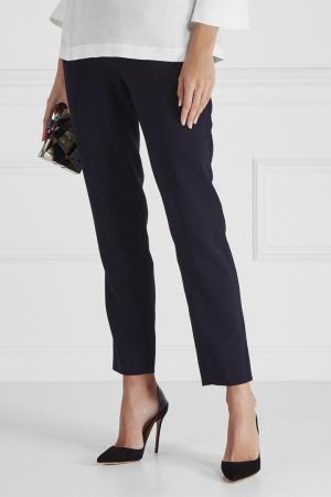 Однотонные брюки Cyrille Gassiline. Цвет: синий