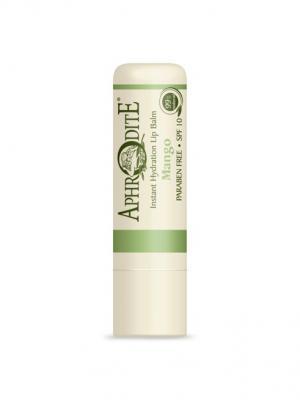 Защитный бальзам для губ с ароматом манго Aphrodite. Цвет: оливковый