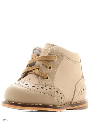 Ботинки Тотто. Цвет: бежевый
