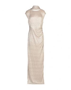 Длинное платье MUSANI COUTURE. Цвет: свинцово-серый