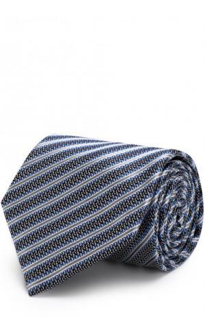 Шелковый галстук с узором Brioni. Цвет: голубой
