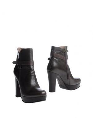 Полусапоги и высокие ботинки ALBERTO FERMANI. Цвет: свинцово-серый