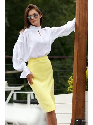 Блузка RUXARA. Цвет: белый
