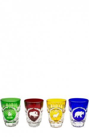 Набор из 4-х стаканов для виски Hunt Tsar. Цвет: бесцветный