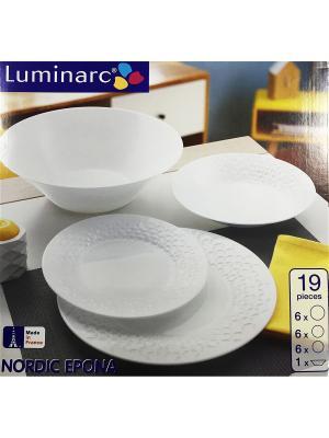Сервиз столовый 19пр Luminarc. Цвет: прозрачный