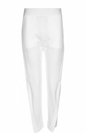 Хлопковые брюки с завышенной талией Acne Studios. Цвет: белый