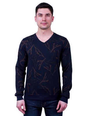 Пуловер GiovedI. Цвет: черный,коричневый
