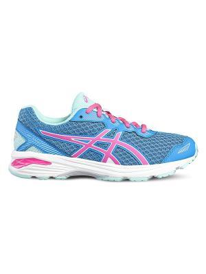 Кроссовки GT-1000 5 GS ASICS. Цвет: голубой, светло-голубой, розовый