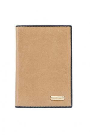Бежевая обложка для документов Eleganzza. Цвет: коричневый