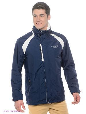 Куртка Stonecast. Цвет: синий, молочный
