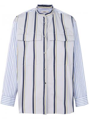 Striped mandarin collar shirt Odeeh. Цвет: серый