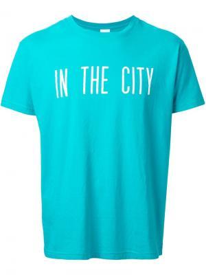 Футболка In  City Cityshop. Цвет: зелёный