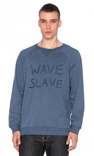 Лодочки wave slave Ambsn. Цвет: синий