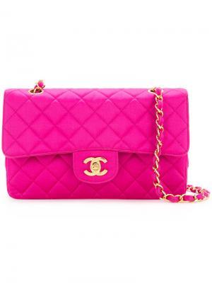 Quilted shoulder bag Chanel Vintage. Цвет: розовый и фиолетовый