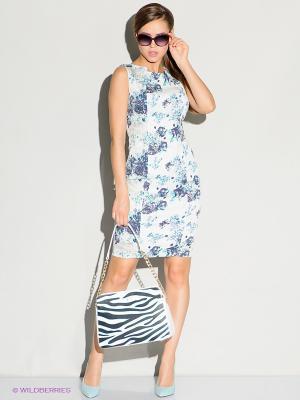 Платье Stets. Цвет: серый, голубой, молочный