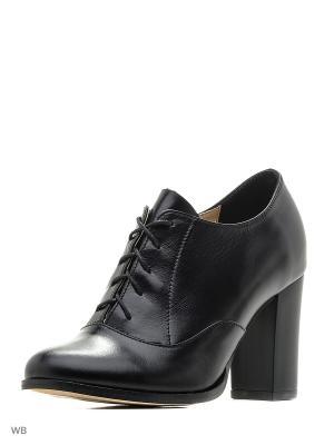 Туфли ESTELLA. Цвет: черный, серо-коричневый