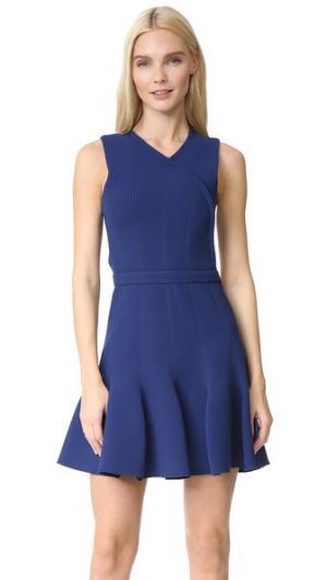 Платье Carven. Цвет: темно-синий