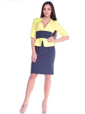 Платье Dioni. Цвет: светло-желтый
