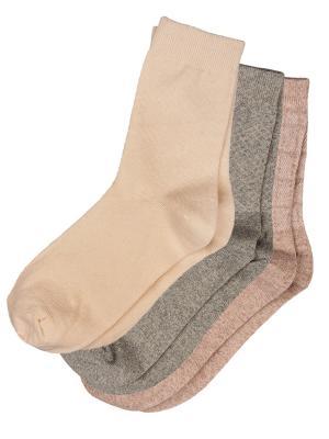 Носки, 3 пары NOSOCKS!. Цвет: серый, желтый, коричневый