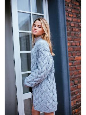 Кардиган Queen Bae Wooly's. Цвет: серый