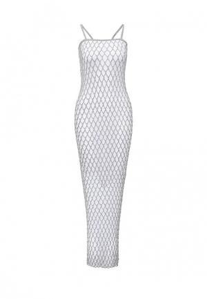 Платье Seanna. Цвет: серебряный
